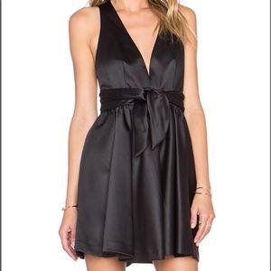 Rachal Zoe Black Beck Sleeveless Tie Waist Dress